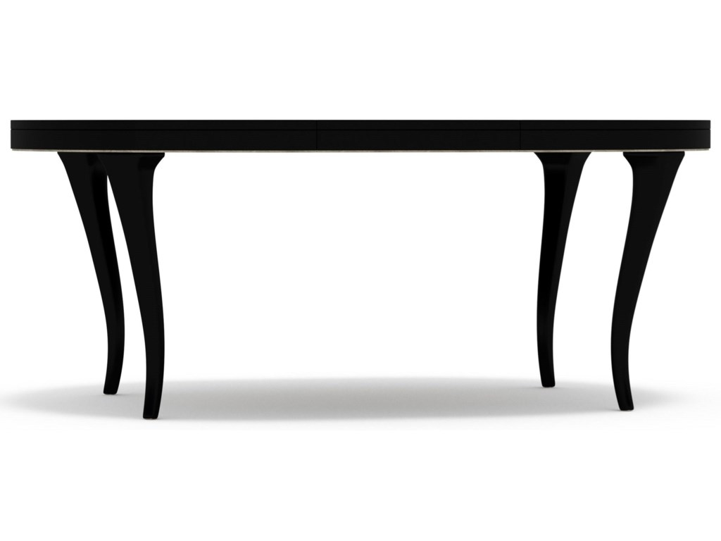 Cynthia Rowley for Hooker Furniture Cynthia Rowley - PrettyBloom Round Dining Table with 20-inch leaf