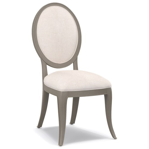 Cynthia Rowley for Hooker Furniture Cynthia Rowley - Pretty Darling Upholstered Oval Back Side Chair