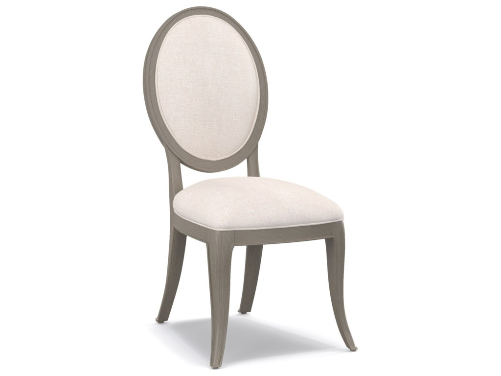 Cynthia Rowley for Hooker Furniture Cynthia Rowley - PrettyDarling Upholstered Oval Back Side Chair
