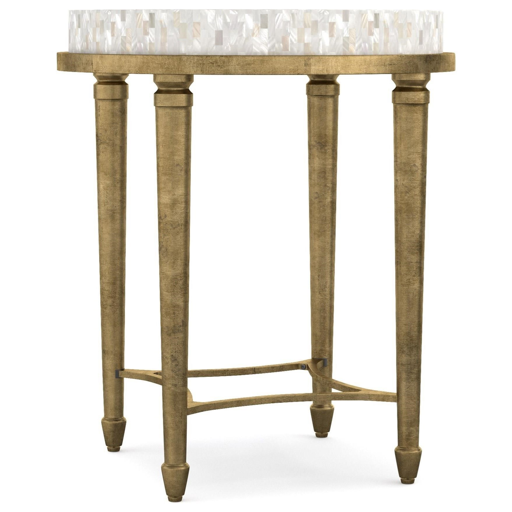 Cynthia Rowley For Hooker Furniture Cynthia Rowley   PrettyAura Round Accent  Table With Shell Top ...