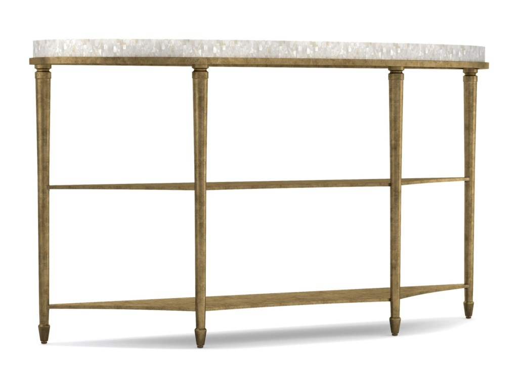 Cynthia Rowley for Hooker Furniture Cynthia Rowley - PrettyAura Demilune Console Table with Shell Top