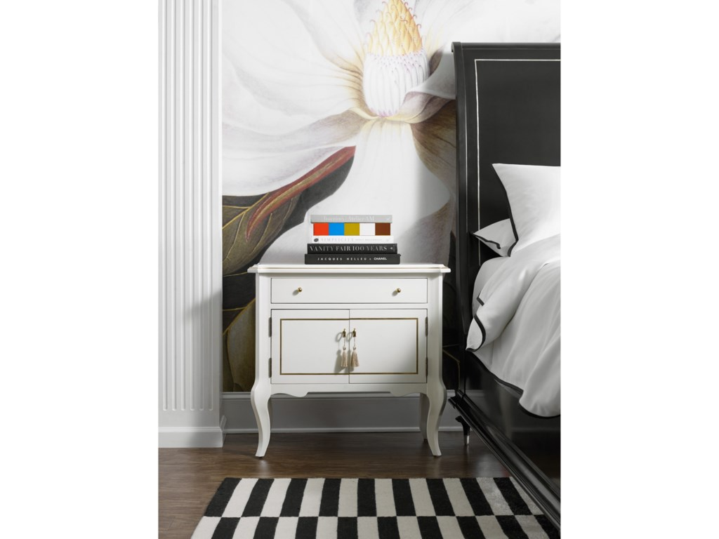 Cynthia Rowley for Hooker Furniture Cynthia Rowley - PrettyMystique One-Drawer Two Door-Nightstand