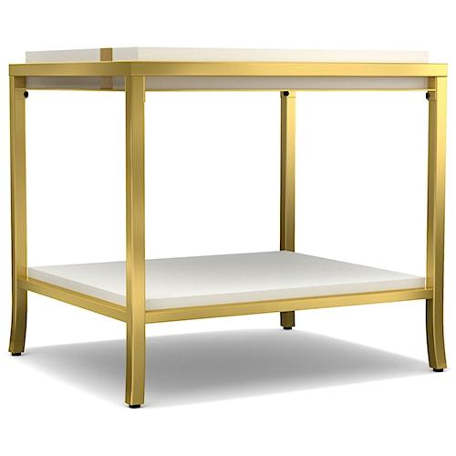 Cynthia Rowley for Hooker Furniture Cynthia Rowley - Sporty Side Stripe End Table
