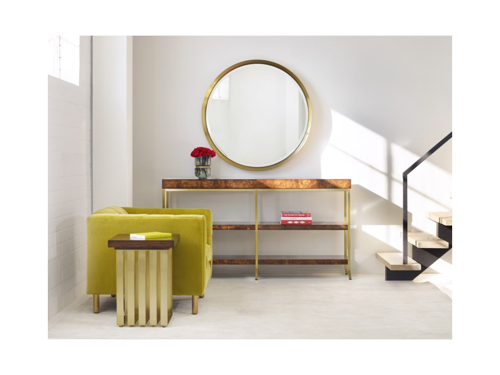 Cynthia Rowley for Hooker Furniture Cynthia Rowley - SportyHorizon Line Square Accent Table