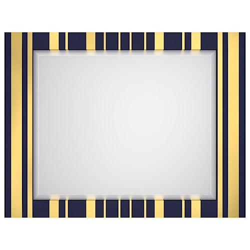 Cynthia Rowley for Hooker Furniture Cynthia Rowley - Sporty Parker Striped Landscape Mirror