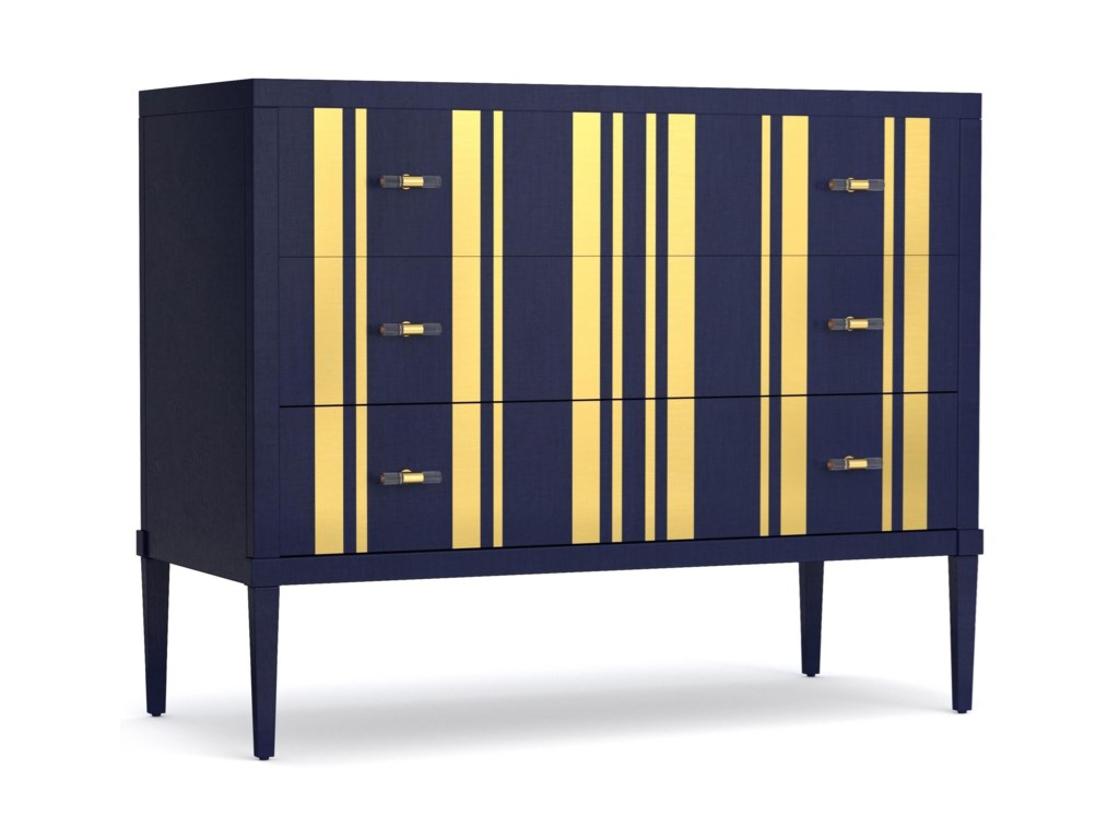 Cynthia Rowley for Hooker Furniture Cynthia Rowley - SportyParker Striped Bachelors Chest