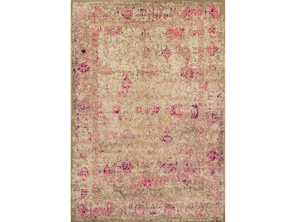 Dalyn AntiquityIvory / Pink 5'3