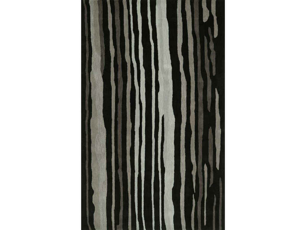 Dalyn JourneyBlack 5' x 7'6