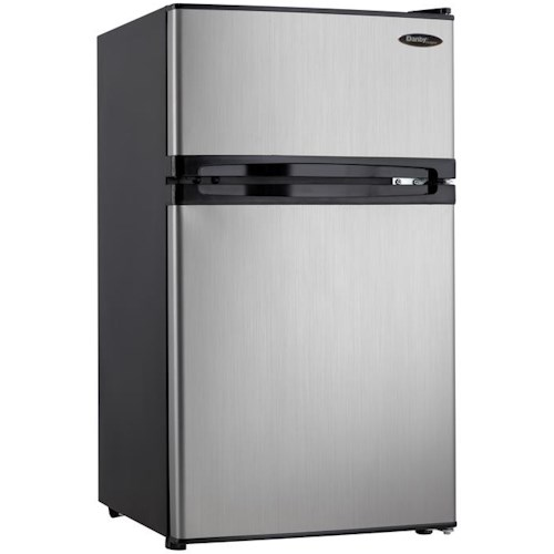 Danby 3.1 Cu. Ft. Dual Door Compact Fridge With Freezer