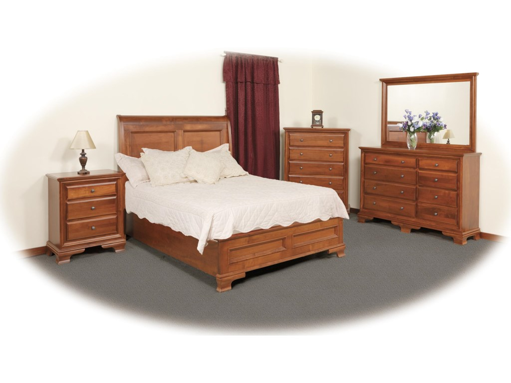 Daniel's Amish ClassicTriple Dresser & Mirror