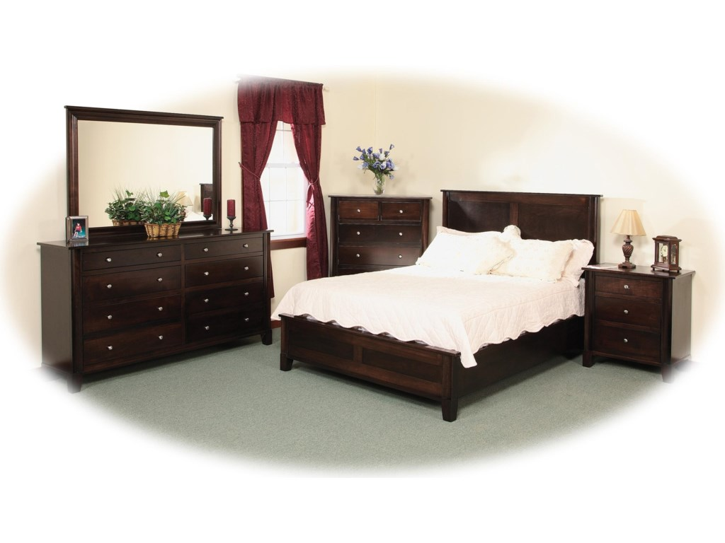 Daniel's Amish CosmopolitanFrame Bed with Low Footboard