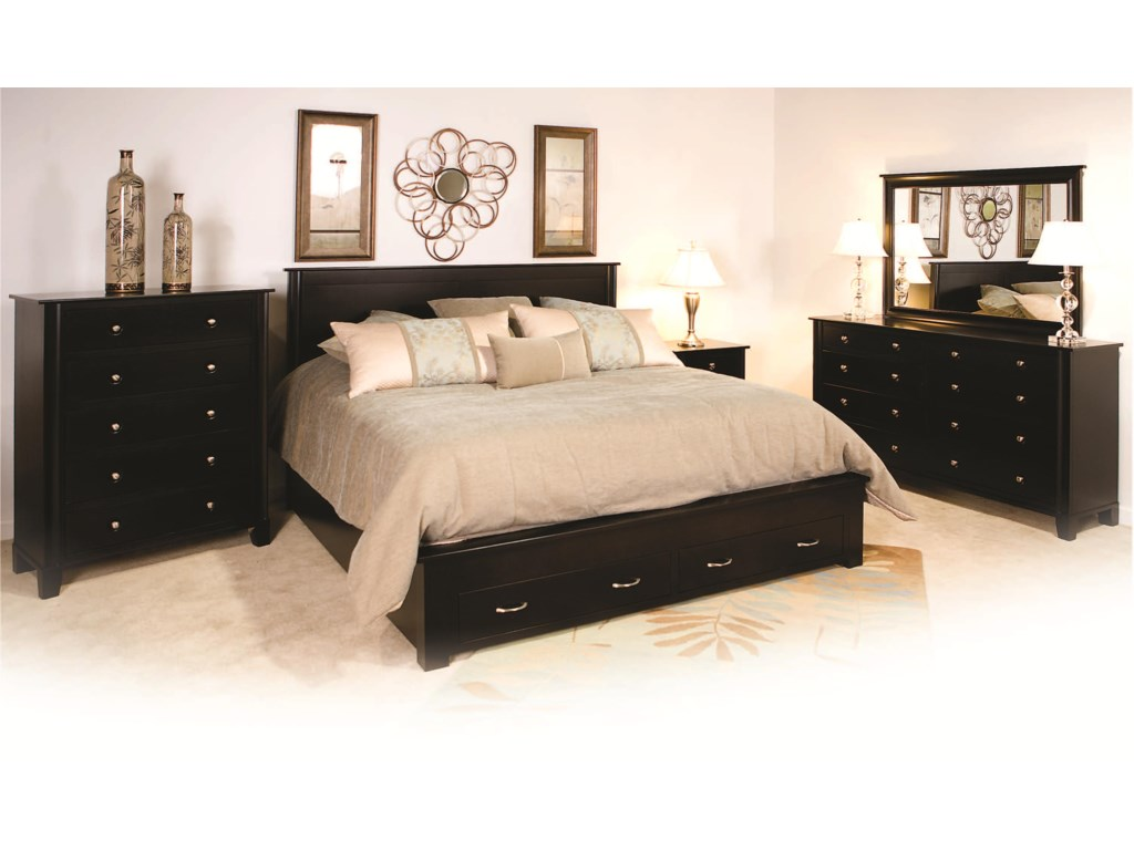 Shown with 5-Drawer Chest, Nightstand, 8-Drawer Dresser, and Mirror