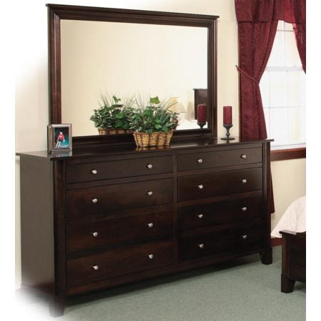 8-Drawer Double Dresser & Mirror