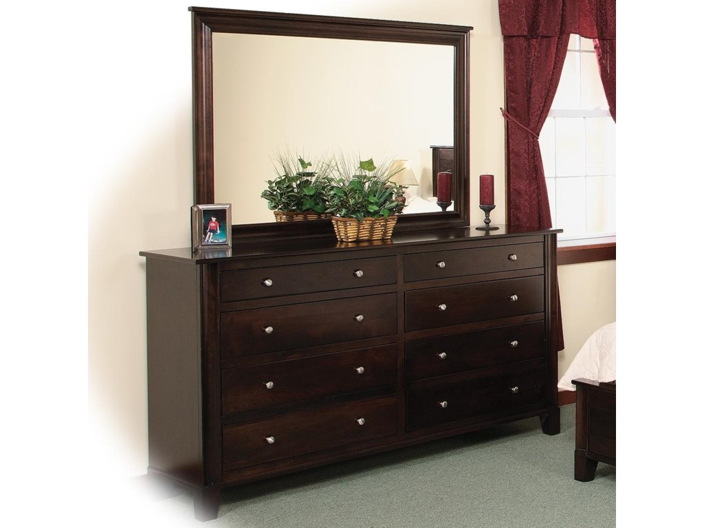 Daniel's Amish Cosmopolitan8-Drawer Double Dresser & Mirror