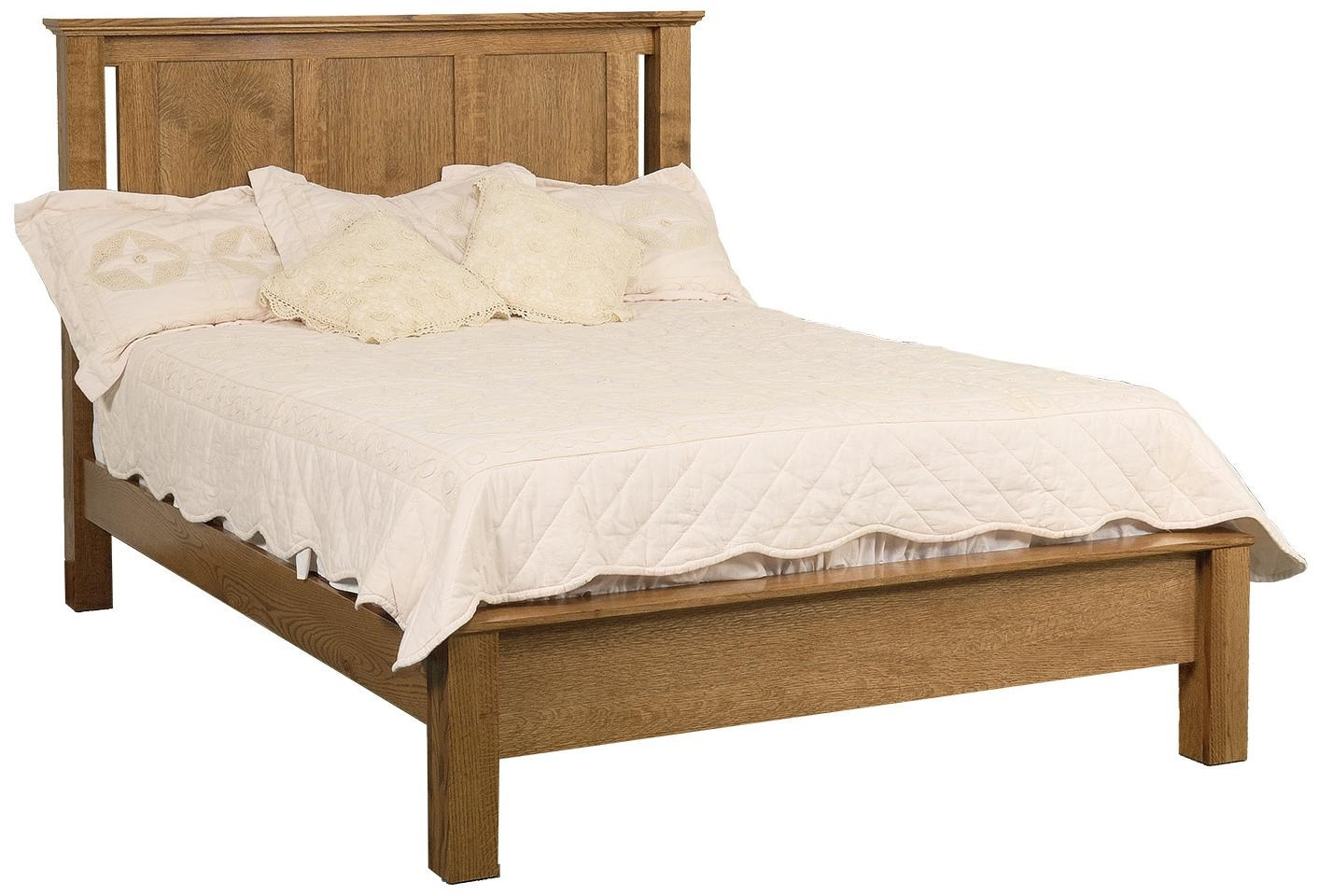California King Frame Bed with Low Footboard