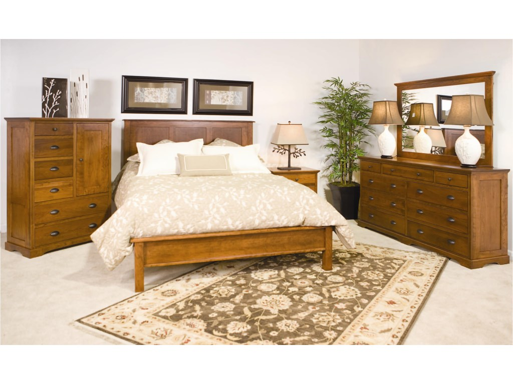 Daniel's Amish EleganceKing Frame Bed with Low Footboard