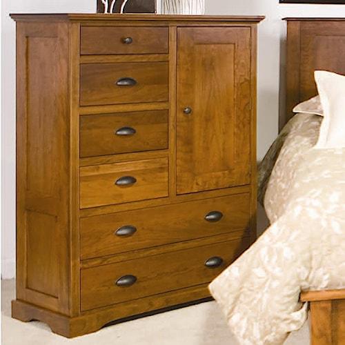 Daniel's Amish Elegance 6-Drawer Armoire with 1 Door