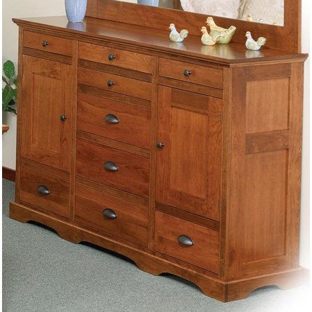 9-Drawer Triple Dresser