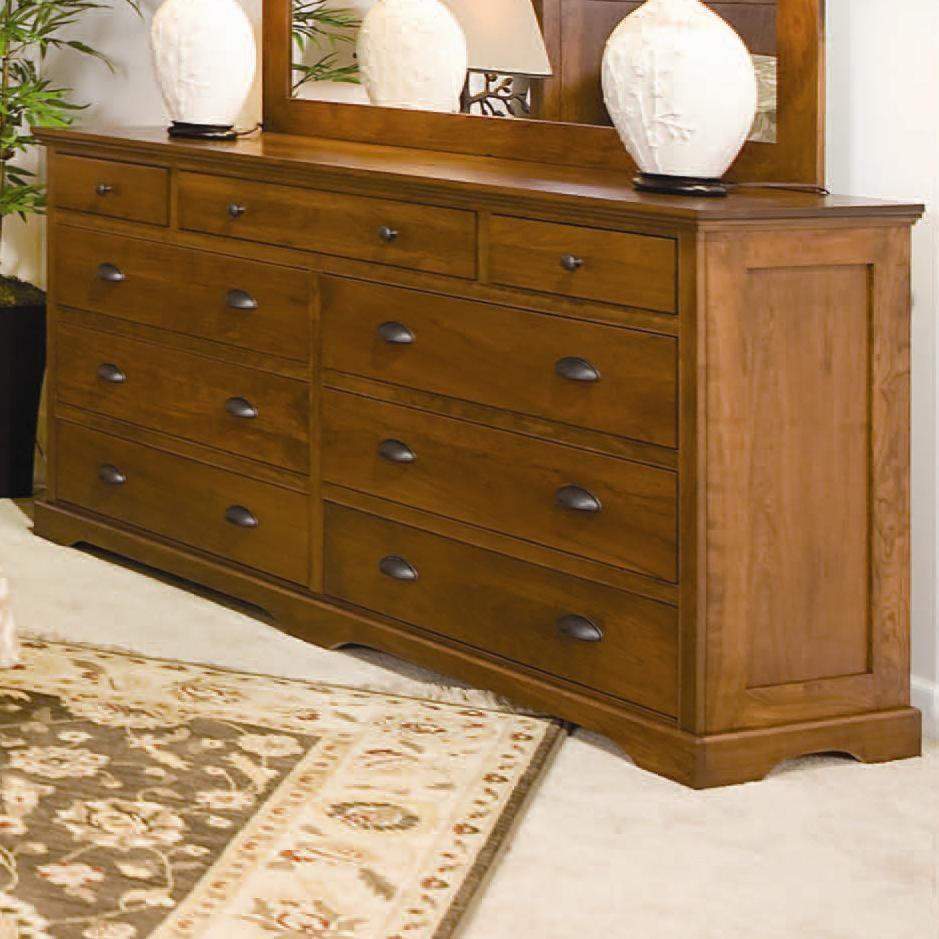Daniel S Amish Elegance 9 Drawer Double Dresser Darvin Furniture