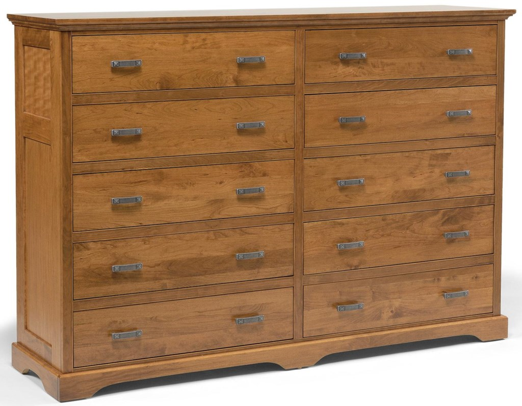 Daniels Amish Elegance10 Drawer Double Dresser