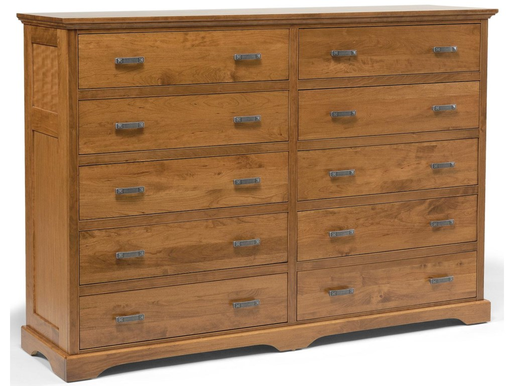 Daniel's Amish Elegance10-Drawer Double Dresser