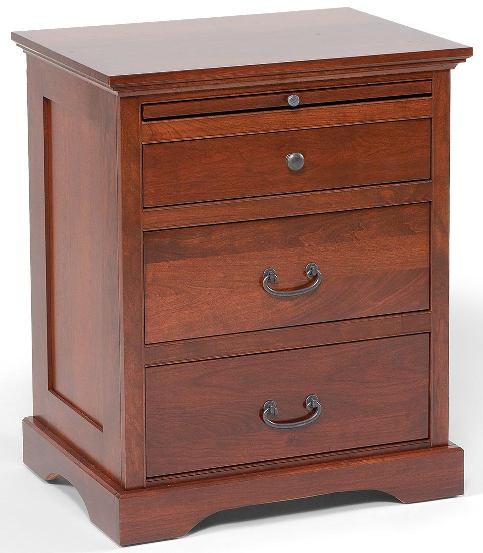 Daniel S Amish Elegance 3 Drawer Nightstand With Pullout