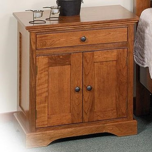 Daniel's Amish Elegance 1-Drawer Nightstand with 2 Doors