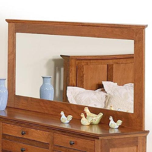 Daniel's Amish Elegance Low Wide Mirror
