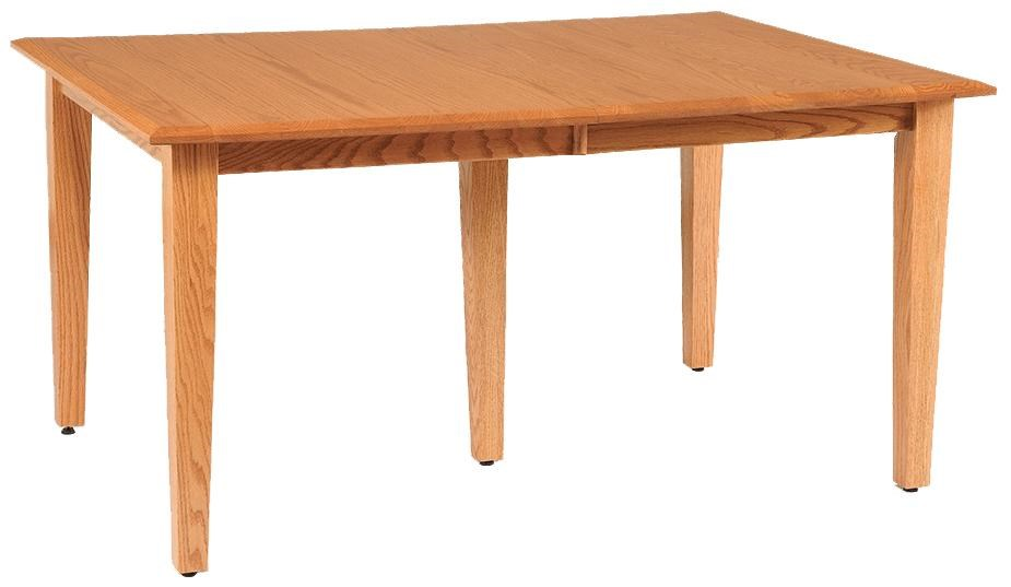 daniel u0027s amish shaker 36   x 48   rectangle table top w  two 12   leaves   conlin u0027s furniture   kitchen tables daniel u0027s amish shaker 36   x 48   rectangle table top w  two 12      rh   conlins com