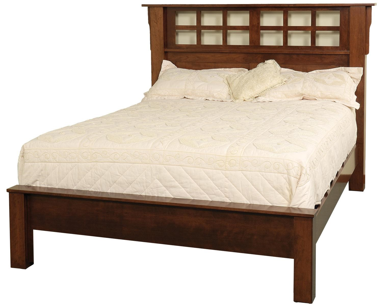 Amish Beds Bedfort Queen Bed W Low Footboard Image Dutch Country Mission Panel Bed In Oak