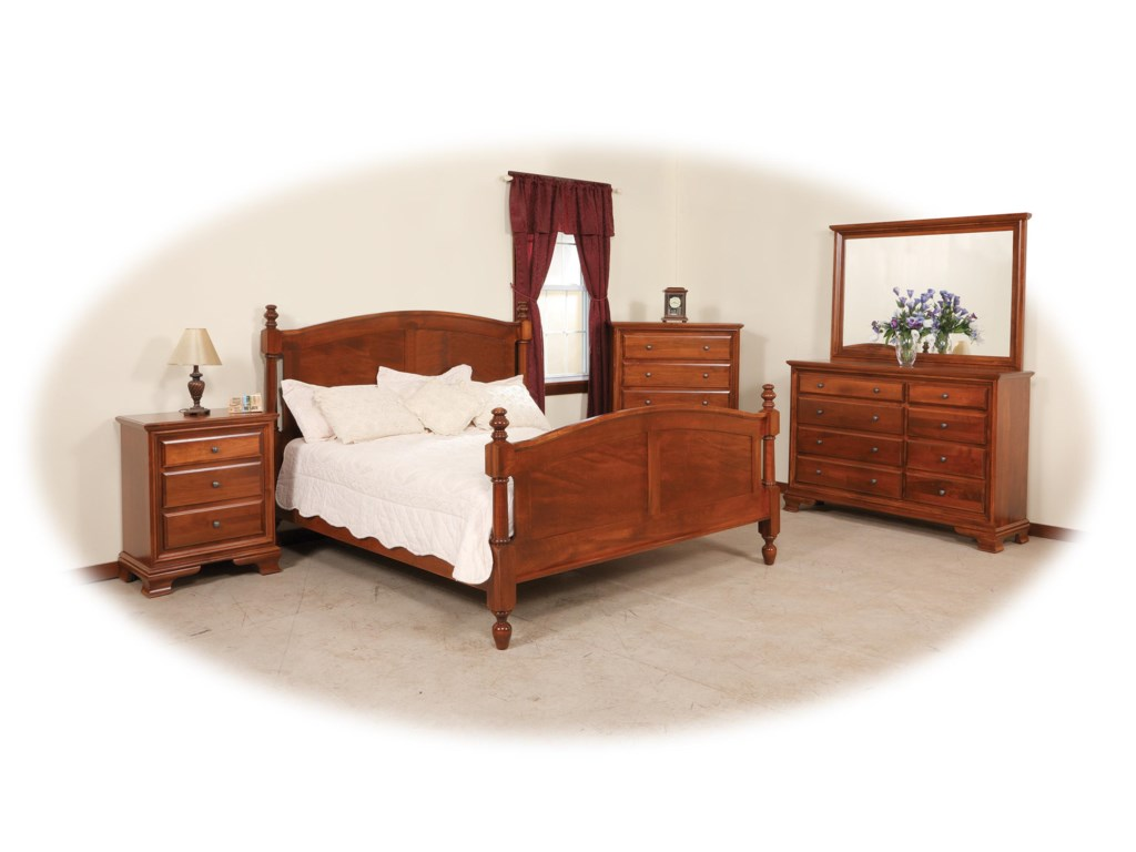 Daniels Amish Classic Queen Bedroom Group Gill Brothers - Daniel's amish bedroom furniture