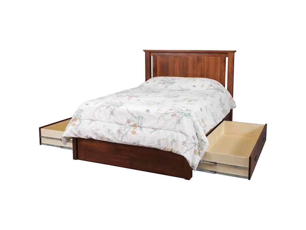 Daniel's Amish EleganceQueen Pedestal Bed