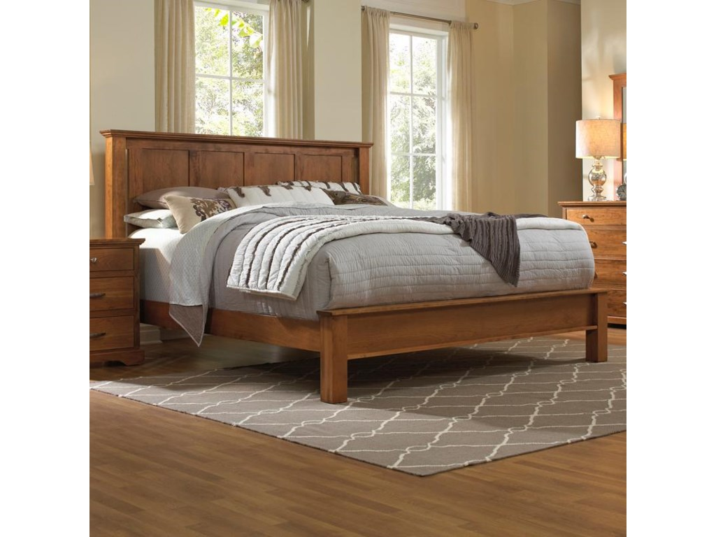 cecdd1c6ef13 Daniel's Amish Elegance Solid Wood Queen Bed with Low Footboard ...