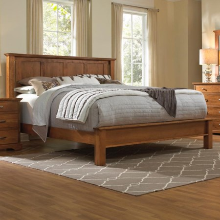Solid Wood King Bed with Low Footboard