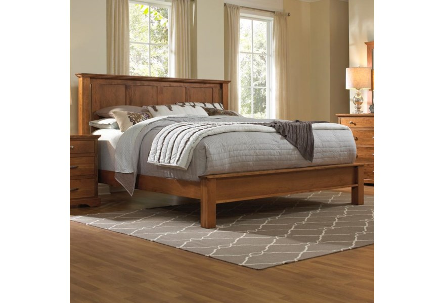 Daniel S Amish Elegance Solid Wood King Bed With Low Footboard Belfort Furniture Panel Beds