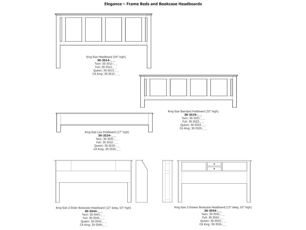 Daniel's Amish EleganceKing Pedestal Bed W/ Storage Drawer