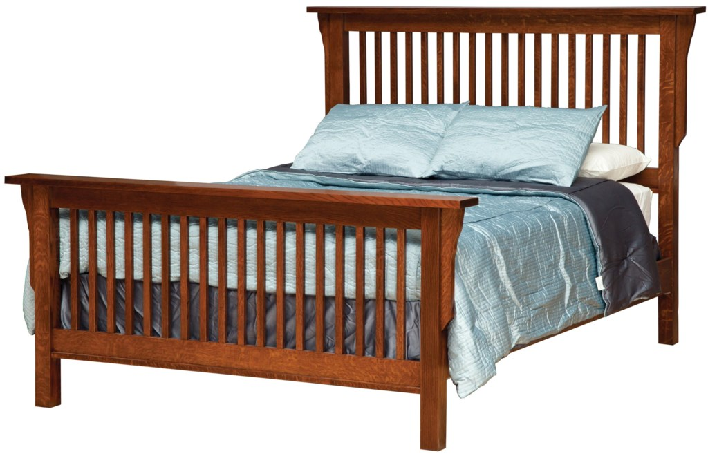 Daniel's Amish Mission Queen Mission Style Frame Bed with