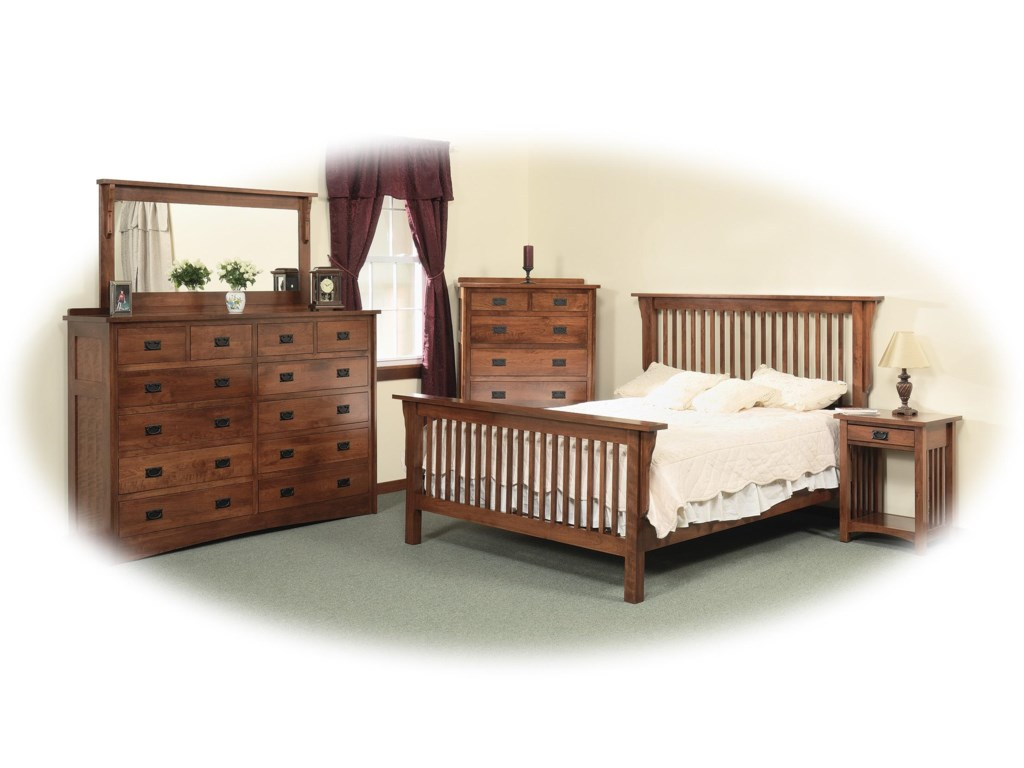 Shown with Open Nightstand, Chest, Double Dresser & 58x28 Mirror