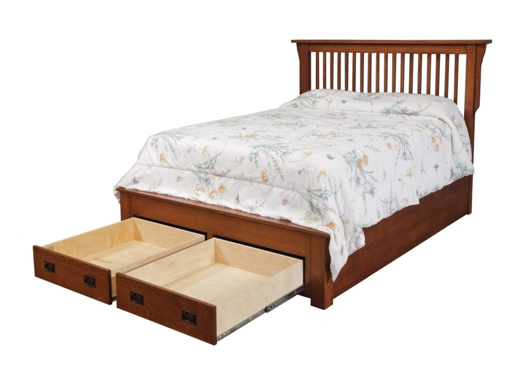 Daniel's Amish MissionQueen Storage Bed