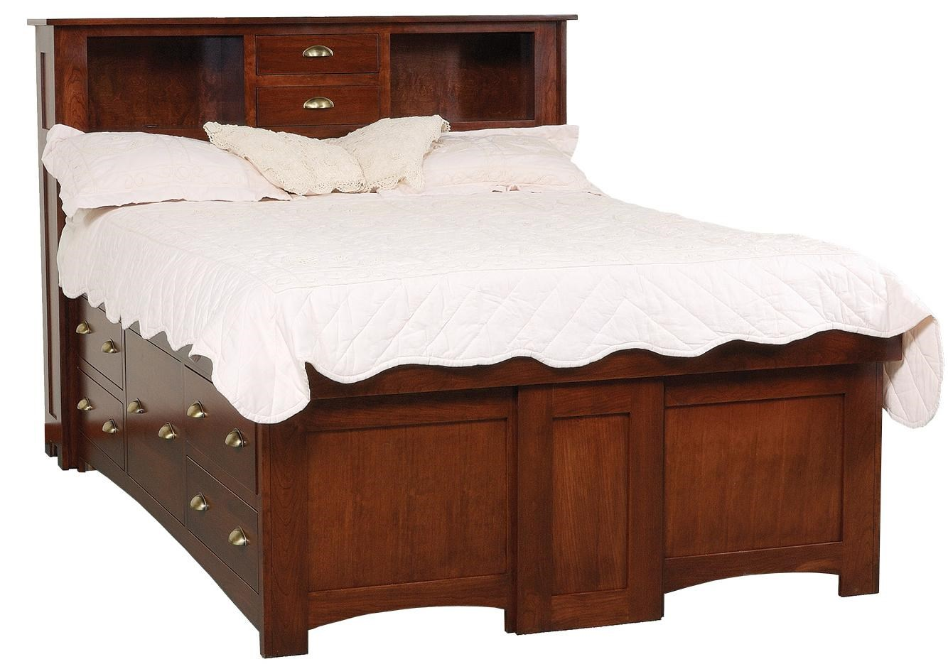 Platform Storage Bed W Drawers Various Size Color Only