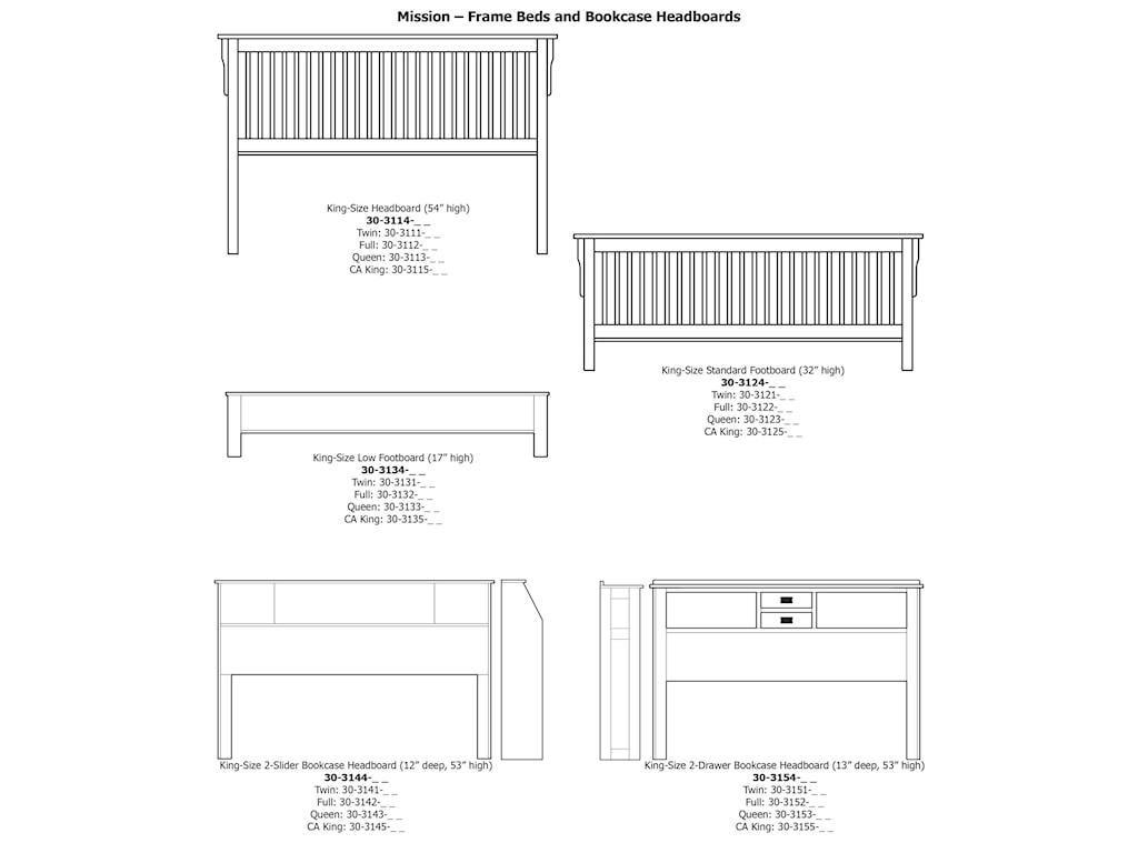 Daniel's Amish MissionCal King Pedestal Bed W/ Storage Drawer