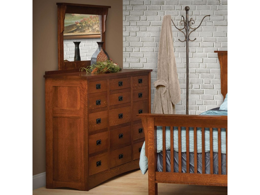 Daniel's Amish MissionTriple Dresser with 42 X36 Mirror