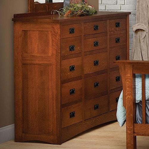 Daniel's Amish Mission 15-Drawer Solid Wood Triple Dresser
