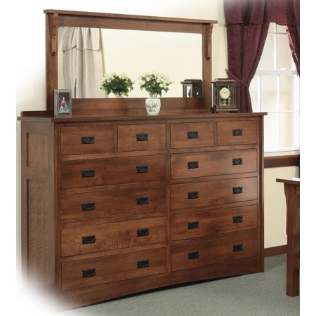 Double Dresser with 58 X 28 Mirror