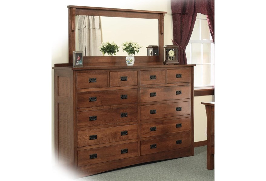 Drawer Solid Wood Double Dresser