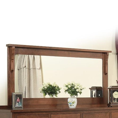 Daniel's Amish Mission 58 x 28 Landscape Mirror with Solid Wood Frame