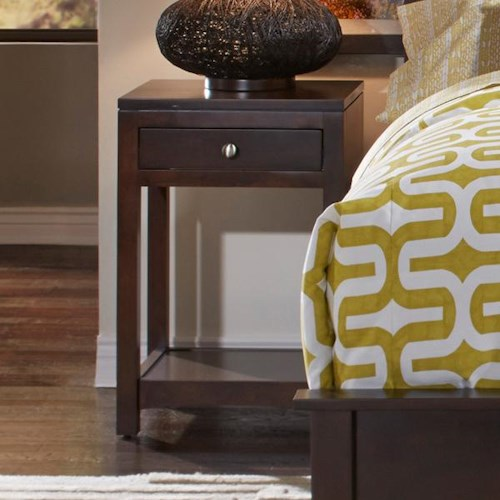 Daniel's Amish Modern Single Drawer Night Stand with Shelf