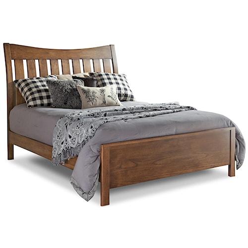 Daniel's Amish Bedfort DA Queen Bed with Slatted Headboard