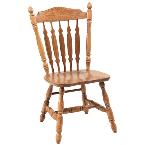 Daniel's Amish Chairs and Barstools Royal Dining Side Chair