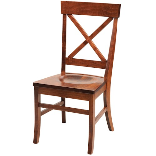 Daniel's Amish Chairs and Barstools X-Back Dining Side Chair